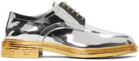 Maison Martin Margiela Silver And Gold Lace Up Derbys