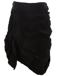Issey Miyake Gathered Pleat Skirt Black