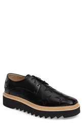Stella Mccartney Men's Platform Star Stitched Derby Black