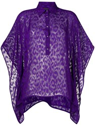 Just Cavalli Leopard Print Shirt Purple