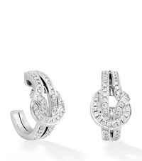 Boodles Knot Earrings Female White Gold