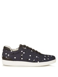 Want Les Essentiels Lennon Low Top Double Dot Leather Trainers Navy Multi