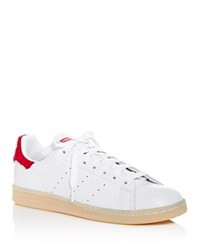 Adidas Stan Smith Winter Lace Up Sneakers White Red