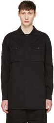 11 By Boris Bidjan Saberi Black Cross Logo Shirt