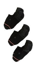 Stance Uncommon Super Invisible Sock 3 Pack Black