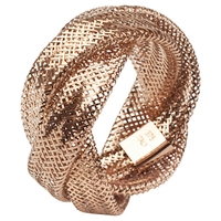 A B Davis 9Ct Multi Flexi Twist Mesh Ring Rose Gold