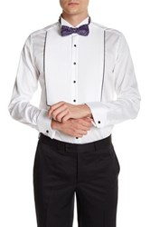 Ron Tomson Tailored Fit Pleated Shirt White