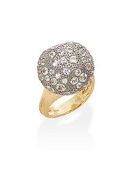 Marco Bicego Africa White Sapphire And 18K Yellow Gold Dome Ring