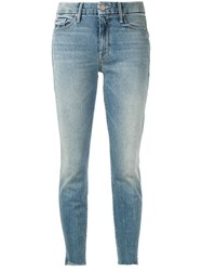 Mother The Looker Ankle Grazer Jeans Blue