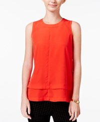 Maison Jules Tiered Top Only At Macy's Loving Red