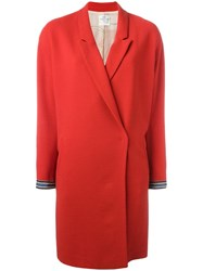 Forte Forte Loose Fit Mid Coat Red