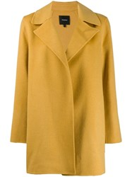 Theory Single Breasted Short Coat Yellow