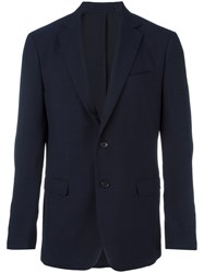 Salvatore Ferragamo Virgin Wool Blazer Blue
