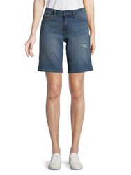 Calvin Klein Jeans City Distressed Denim Shorts Isolation