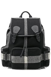 Burberry Shoes And Accessories Wool Backpack Black