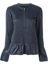 Sacai Quilted Zip Jacket Blue