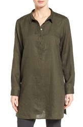 Eileen Fisher Women's Organic Linen Tunic Shirt Surplus