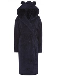 Dorothy Perkins Glitter Faux Fur Robe Navy
