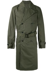 Joseph Belted Trench Coat Green