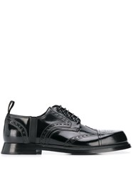 Dolce And Gabbana Brogue Derby Shoes Black