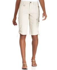 Styleandco. Style And Co. Petite D Ring Bermuda Shorts Only At Macy's Stonewall