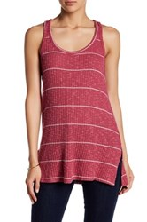 Poof Ribbed Stripe Tank Red