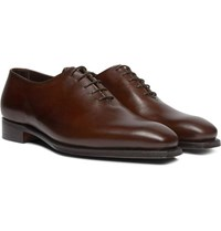 George Cleverley Alan 3 Whole Cut Leather Oxford Shoes Dark Brown