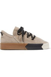 Adidas Originals By Alexander Wang Skate Suede Sneakers Light Gray