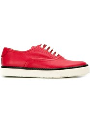 Herma S Vintage Colour Block Low Top Sneakers Red