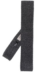 Canali Knitted Scarf Grey