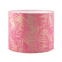 Clarissa Hulse Feather Fern Lamp Shade Pebble Neon Pink