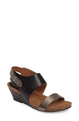 Sofft Women's 'Vanita' Leather Sandal Black Copper Leather