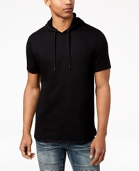 Inc International Concepts I.N.C. Men's Remix Short Sleeve Hoodie Created For Macy's Deep Black
