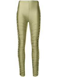 Jean Paul Gaultier Vintage Braided Lateral Trousers Green