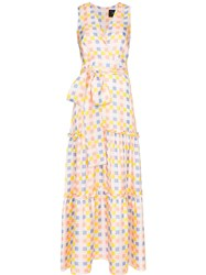 Paper London Check Print Maxi Dress Multicolour