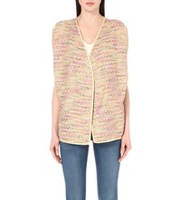Diane Von Furstenberg Ray Cotton Blend Tweed Cardigan Jute Multi