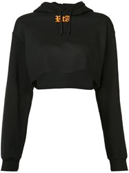 Rta Cropped Hoodie Women Cotton Polyester S Black
