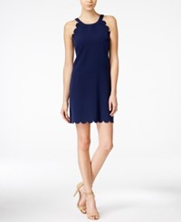 Maison Jules Scallop Detail Shift Dress Only At Macy's Blu Notte