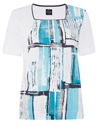 Tigi Abstract Print Top Turquoise