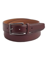 Black Brown Leather Belt Cognac