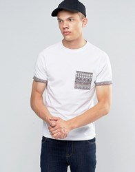 Another Influence Pattern Chest Pocket T Shirt White