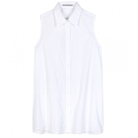 Acne Studios Ash Sleeveless Cotton Shirt White