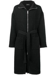 Andrea Ya'aqov Oversized Zip Coat Black