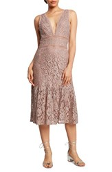 Willow And Clay 'S Lace Foil Midi Dress Lilac