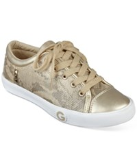 G By Guess Oona Sneakers Women's Shoes Gold Snake