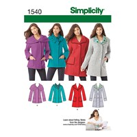 Simplicity Jackets Sewing Pattern 1540