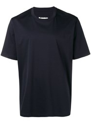 Jil Sander Crew Neck T Shirt Blue