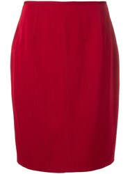 Jean Paul Gaultier Vintage 1980'S Straight Skirt Red