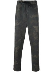 Rag And Bone Camouflage Print Trousers Green