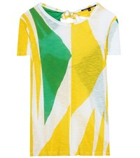 Proenza Schouler Tie Back Printed Jersey T Shirt Multicoloured
